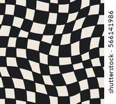 seamless geometric checkered... | Shutterstock .eps vector #566141986
