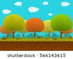 cartoon forest seamless...   Shutterstock .eps vector #566143615