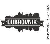 dubrovnik skyline stamp... | Shutterstock .eps vector #566143822