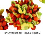fruit bouquet   | Shutterstock . vector #566145052