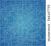 vector blueprint with town... | Shutterstock .eps vector #566147755