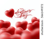 valentines day greeting card... | Shutterstock .eps vector #566149372