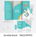 tri fold medical brochure... | Shutterstock .eps vector #566149492