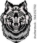tattoo wolf head  | Shutterstock .eps vector #566152702