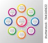 vector infographic template on... | Shutterstock .eps vector #566160622