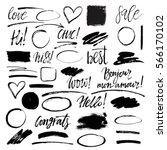 set of hand drawn grunge design ... | Shutterstock .eps vector #566170102