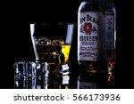 jim beam is one of best selling ... | Shutterstock . vector #566173936
