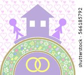 house and love the basis of... | Shutterstock .eps vector #566185792
