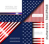 set of memorial day graphic... | Shutterstock .eps vector #566189668