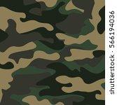 camouflage pattern background.... | Shutterstock .eps vector #566194036