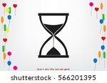 sand clock icon vector...   Shutterstock .eps vector #566201395