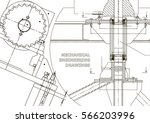 blueprints. mechanical... | Shutterstock .eps vector #566203996