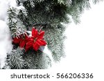 christmas decorations  red... | Shutterstock . vector #566206336