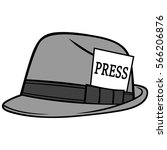 journalist hat illustration | Shutterstock .eps vector #566206876