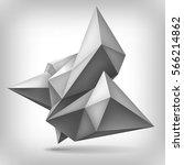 volume geometric shape  3d... | Shutterstock .eps vector #566214862