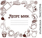 design of recipes book. hand... | Shutterstock .eps vector #566215546