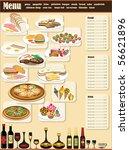 restaurant menu. full design... | Shutterstock .eps vector #56621896