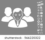 team pictograph with bonus... | Shutterstock .eps vector #566220322
