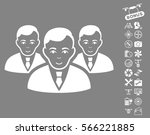 manager group icon with bonus... | Shutterstock .eps vector #566221885