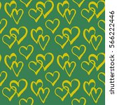 seamless pattern with hearts.... | Shutterstock .eps vector #566222446