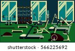 gym flat colorful illustrations | Shutterstock . vector #566225692