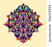 modish geometric style object... | Shutterstock .eps vector #566225965