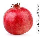 single ripe pomegranate fruit... | Shutterstock . vector #566226262