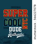 super cool urban dude  new york ... | Shutterstock .eps vector #566227078