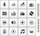 set of 16 emultimedia icons....