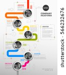 vector infographic company... | Shutterstock .eps vector #566232676