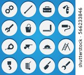 set of 16  apparatus icons.... | Shutterstock . vector #566233846