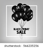 black friday sale poster with... | Shutterstock .eps vector #566235256