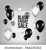 black friday sale poster with... | Shutterstock .eps vector #566235262