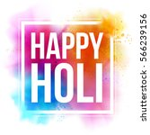happy holi indian spring... | Shutterstock .eps vector #566239156