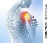 concept of shoulder pain.... | Shutterstock . vector #566240968