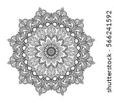 mandala vector tattoo. black... | Shutterstock .eps vector #566241592