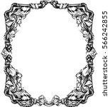 floral frame | Shutterstock .eps vector #566242855