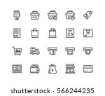 retail icon set  outline style | Shutterstock .eps vector #566244235