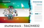 startup landing webpage or... | Shutterstock .eps vector #566244832