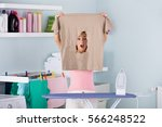 shocked frustrated woman... | Shutterstock . vector #566248522
