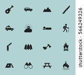 set of 16 editable travel icons.... | Shutterstock .eps vector #566249326