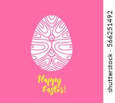 happy easter greeting card... | Shutterstock .eps vector #566251492