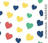 seamless hearts pattern with... | Shutterstock .eps vector #566251522
