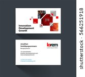 vector business card template... | Shutterstock .eps vector #566251918