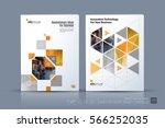 business vector. brochure... | Shutterstock .eps vector #566252035