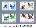 business vector. brochure... | Shutterstock .eps vector #566252062