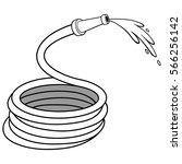 garden water hose illustration | Shutterstock .eps vector #566256142