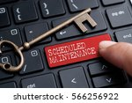 closed up finger on keyboard... | Shutterstock . vector #566256922