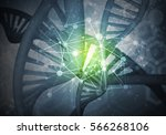 background image with dna... | Shutterstock . vector #566268106