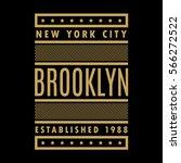 new york city. brooklyn. retro... | Shutterstock .eps vector #566272522